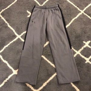 Grey and Black under armour sweatpants